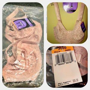 5 New w Tags Bali Lace Bras 36DD (4 nude, 1 Black)